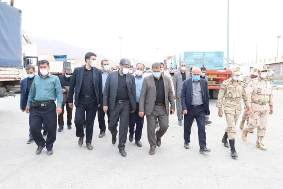 بازدید رئیس کل دادگستری آذربایجان غربی از گمرک تمرچین پیرانشهر